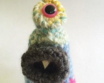 Plush Crochet Monster Keychain or Ornament - Crinkle