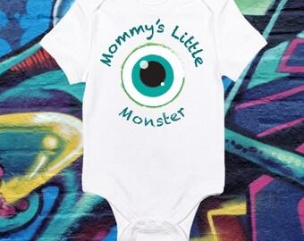 Mommy's Little Monster Baby Bodysuit Cute Halloween Onesie First Halloween Toddler T-shirt Baby Halloween Costume shirt Spooky baby tee AR-1