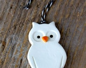 Owl Ornament - Handmade Pottery - Custom Made Ships in 1-2 weeks