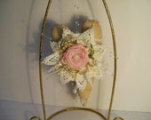 Shabby Chic Christmas Ornament Cottage Chic Victorian Heart