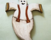 Happy Ghost with suspenders