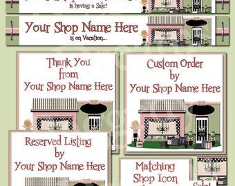Premade Etsy Banner Set - Etsy Banner Design - Etsy Shop Banner - SHOP ICON - Shop Profile Photo - Ava Boutique Shop Store