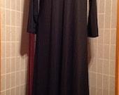 Swing Abaya - Black Pin Stripe  (Up to 2X)