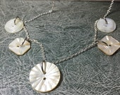Antique mother of pearl buttons necklace