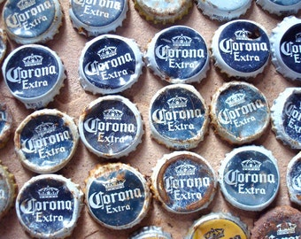 Rusty Metal Corona Crown Beer Bottle Caps Found Objects -  Assemblage, Altered Art or Sculpture Supplies