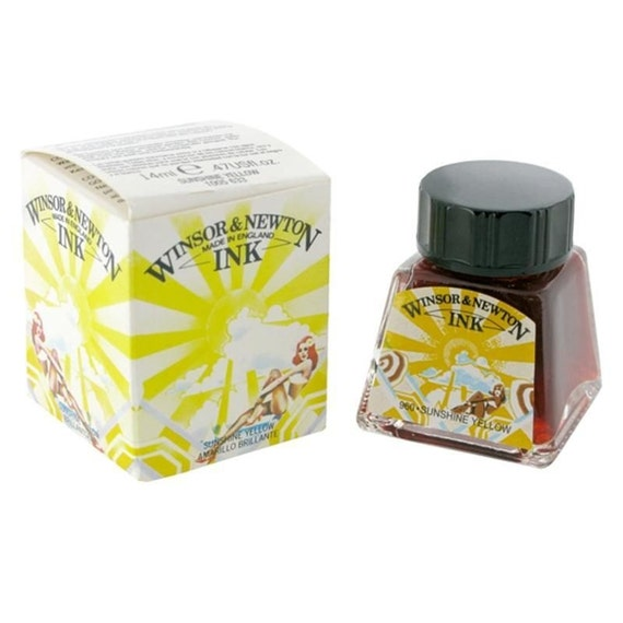 Winsor Newton Sunshine Yellow Drawing Calligraphy Ink
