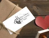 0388 JLMould I Bee-lieve in you Custom Rubber Stamp for your Teacher Gift Believe in You Personalized Modern Fonts