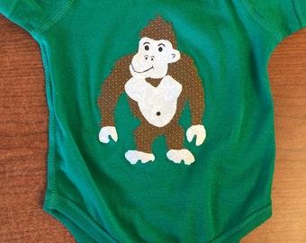 Safari Gorilla Infant Bodysuit Baby Onesie