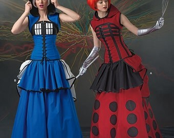 Simplicity 1095 Dr. Who Inspired Corset,Skirt and Bustle Size 6-14