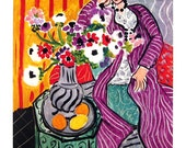 Fine Art Print - The Purple Robe by Henri Matisse, French Painter - 1993 Vintage Book Page - Reproduction Print - 8.5 x 11