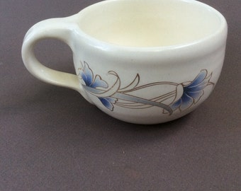 WHITE ceramic/stoneware/pottery/handmade mug/ flowers/ tea cup/ ready to ship M29
