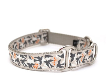 """1"""" Dog Collar Come Fly With Me ♥ buckle or martingale collar"""