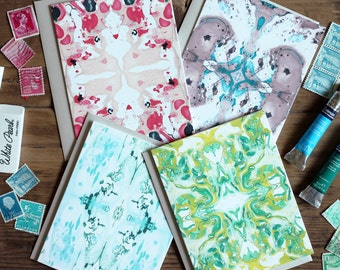 Notecards / Marble Collection I Pack of (8) Blank / Stationery Gift