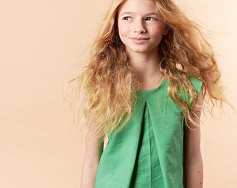 Green Emerald A-Line Shift Dress - Veronica Lilla Grey Sale