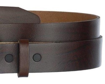 "Mens Womens Brown Leather Belt- Snap On Strap- Genuine Cowhide Oil Tanned USA- 1.5"" -32 33 34 36 38 39 40 42 44 46 48 50 52 -25 STYLES Avail"