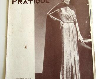 Vintage French Magazine Mode Pratique November, 1935 Fashion Sewing and Knitting