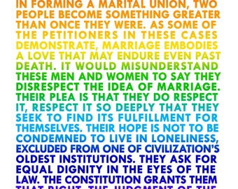 Love wins! SCOTUS Quote on legalizing gay marriage! // Digital JPG for print