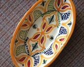 Hand Painted Moroccan Serving Dish