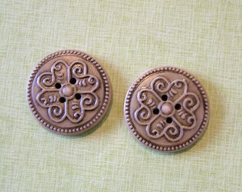 Neutral Brown Medallion set of 2