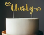 30th birthday cake topper - thirty cake topper