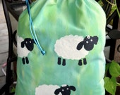 Large Drawstring Project Bag - Sheep May Safely Graze