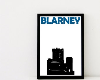 Blarney Print // Ireland Art Print // Blarney Poster / Blarney Art / Ireland Print / Ireland Poster / Irish Gifts / Irish Art / Brother Gift