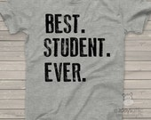 Back to school best.student.ever. Tshirt - fun back to school gift for boys and girls