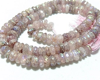 Russian Muscovite Gemstone. Semi Precious Gemstones. Faceted AB Rondelle Gemstone. 4.5 to 5mm. Strand Your Choice (jmus)