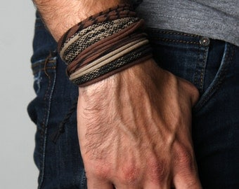 Mens Bracelets, Boyfriend Gift, Boyfriend, For Him, Man Gifts, Gifts For Him, Fiance Gift, Mens Gift, Wrap Bracelets, Bracelets Men, Mens