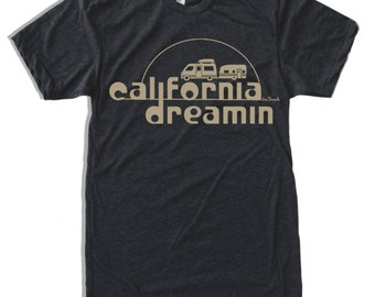 Mens California DREAMIN T-shirt s m l xl xxl (+ Color Options)