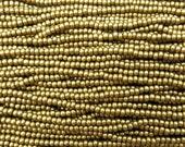 6/0 Metallic Brass Czech Glass Seed Bead Strand (CW199)