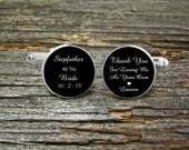 Stepfather Of the Bride Cufflinks-Custom Cufflinks-Silver Wedding Cufflinks-Cufflink Box-Jewelry Box-Stepfather Gift-Gold Wedding Cufflinks