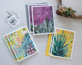 Mexican Flora Love Note Card Set - Baja California Sur - Cactus, Succulent, Agave Greeting Card, Thank You Card, Duluth