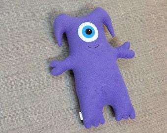 Purple One Eyed Monster Stuffed Animal, Katelyn