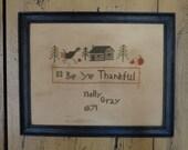 Be Ye Thankful ~ PDF pattern