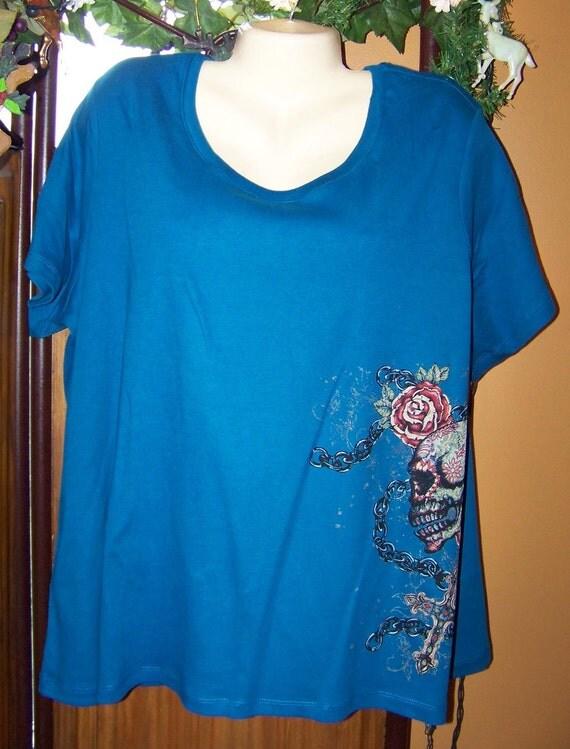 Plus size 3x plus size 3x tattoo tattoo shirts aqua blue for Aqua blue mens dress shirt