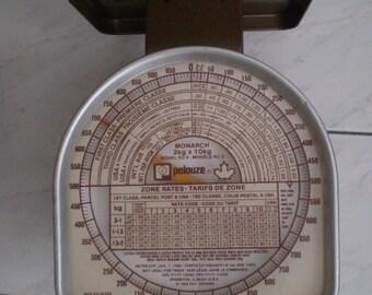 Vintage Canadian Pelouze Shipping Scale Metal
