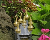Ceramic Castle Handbuilt Enchanted The Russian Nightlight Lantern Sculpture Garden Decoration Gardener garden art woman's gift fairy castle