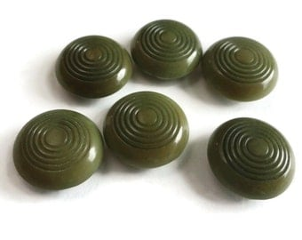 Olive Vintage Buttons in Your Choice of Sizes 10mm 13 mm for Jewelry Beads Sewing Knitting Baby Doll Clothes