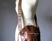 Leather Backpack, Cross body bag, Brown leather bag, distressed leather backpack, convertible backpack bag, Rucksack