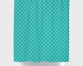 Scalloped Shower Curtain, Custom Shower Curtain, Mermaid Shower Curtain, Pick Your Colors
