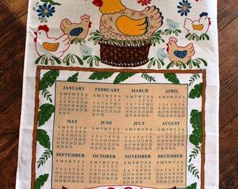 1995 Chicken in Basket Tea Towel Calendar