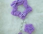 2-Way Lavender Fuzzy Shooting Star Barrette/Pin