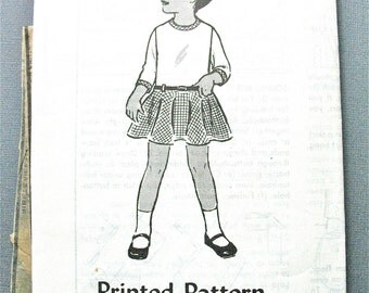1960s Girls' Vintage Sewing Dress 4597 Pattern  Size 4