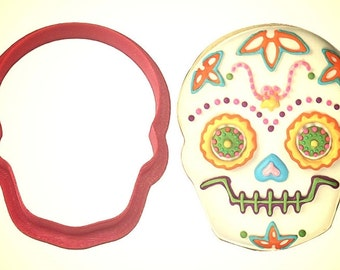 """3.5"""" Halloween Skull Cookie Cutter, Day of the Dead cookie cutter, Halloween cookie cutter, Sugar skull cookie cutter"""