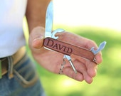 Personalized Pocket Knife Engraved Walnut Wood Wedding, Groomsman, Best Man, Bachelor Party, Christmas Gift (NVMHDA1327)