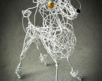 Standard White Poodle, Customized Dog Art, Pet Lover Gift, Caniche, Poodle Ornament, Chien, Poodle Decor, Dog Keepsake Gift
