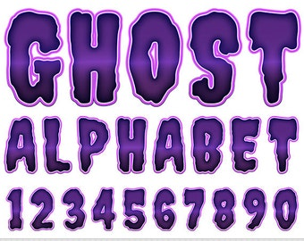 Halloween Alphabet Clipart Purple Letters Clipart Halloween Scrapbooking Typography Alphabet Clip Art Numbers Digital Text Clipart Uppercase