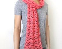 Lacy Chevron Scarf - PDF Crochet Pattern - Instant Download
