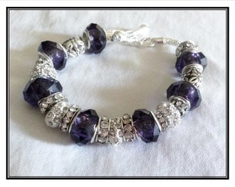 Baltimore Ravens Jewelry Inspired Bracelet handmade